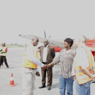 Visit by Transport Minister to Obuasi Airport